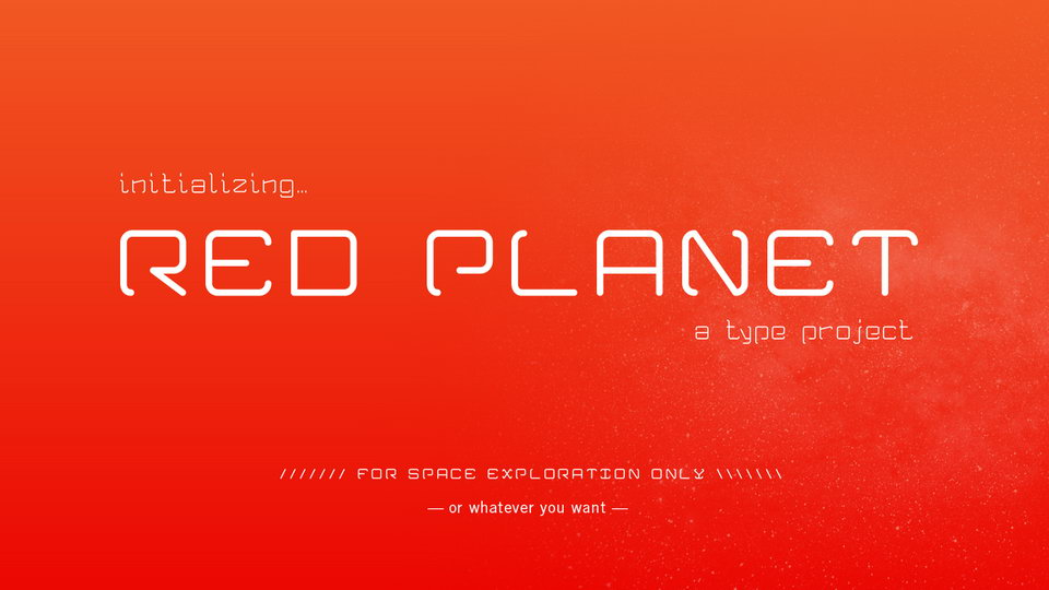 red planet free font