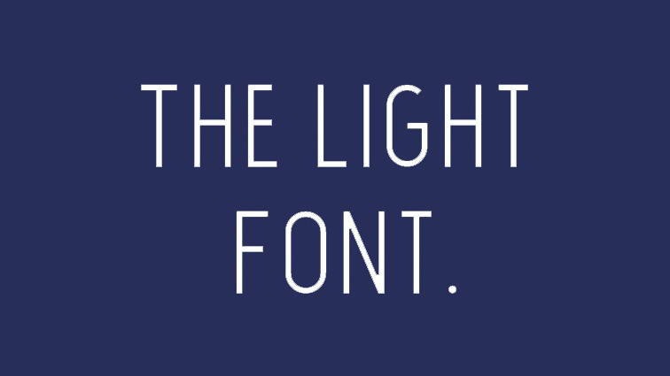 the light free font