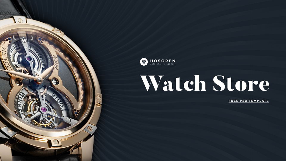 watch store web template