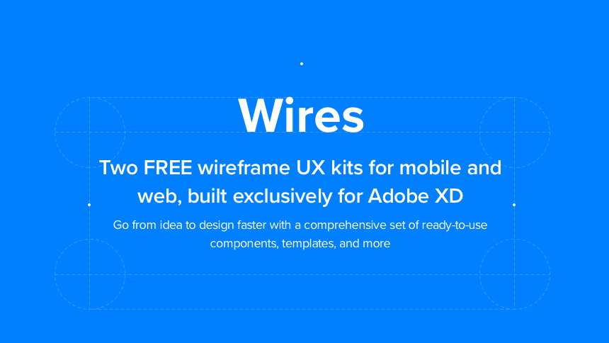 wires free app wireframe xd