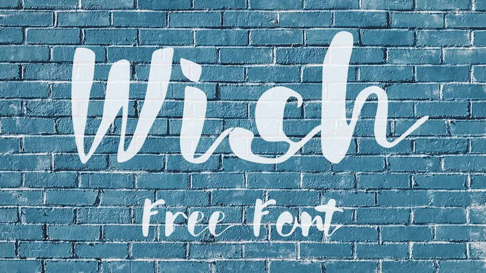 wish free brush font