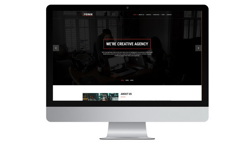 agency web psd download