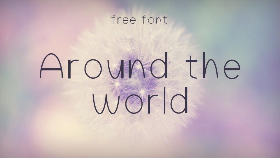 aroundtheworldfont