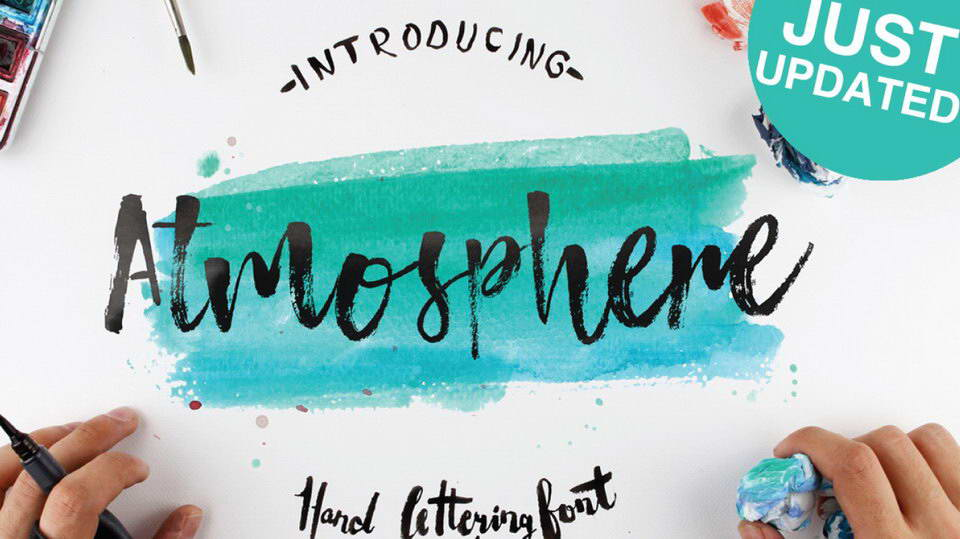 atmospere free brush font