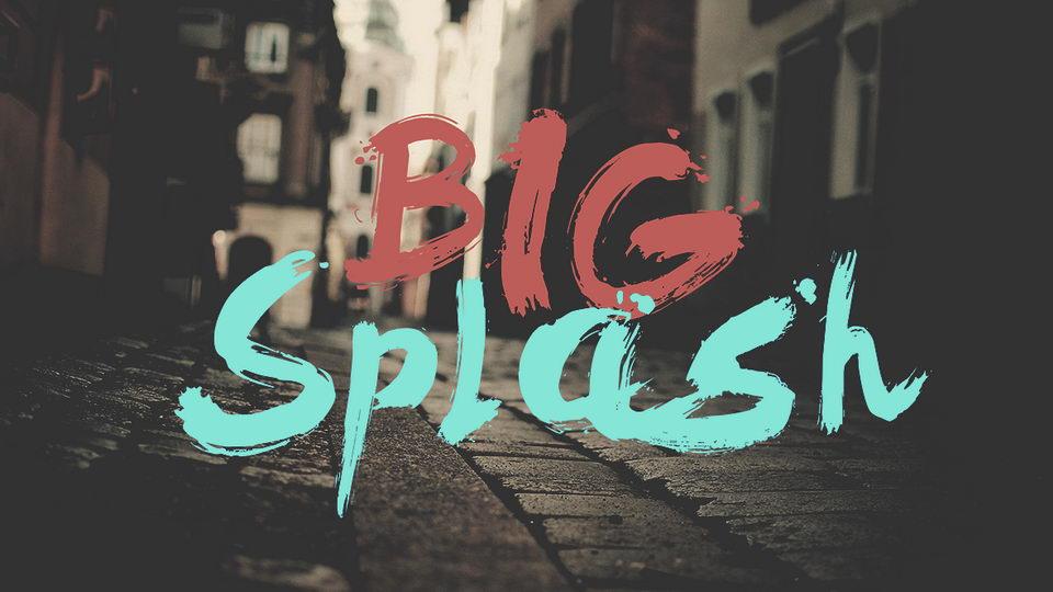 big splash font download