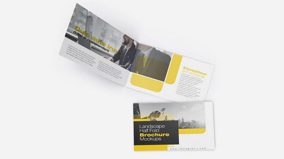 free brochure mockup psd