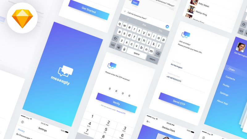 chat app free ui kit