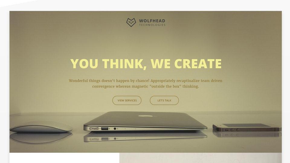 corporate website free template