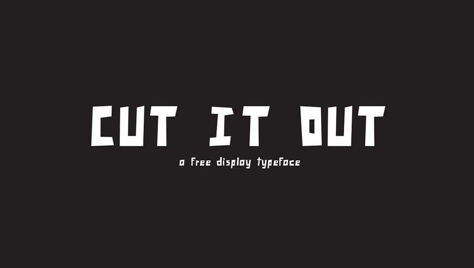cut it out font download