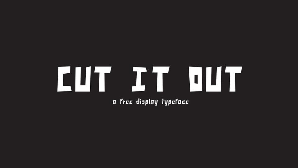 cut it out font download