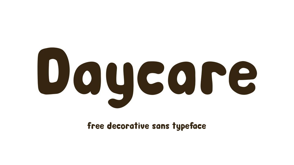 daycare free font