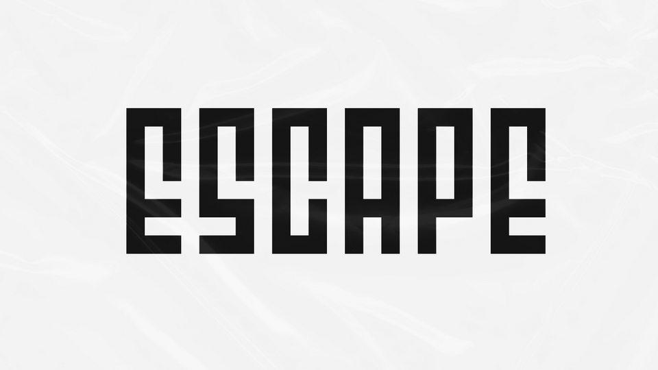 escape free font