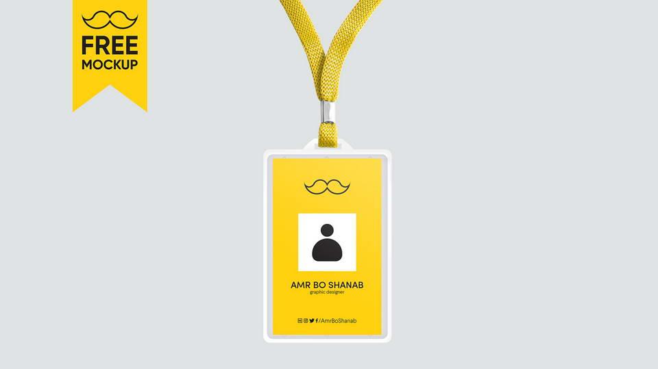 free badge id mockup