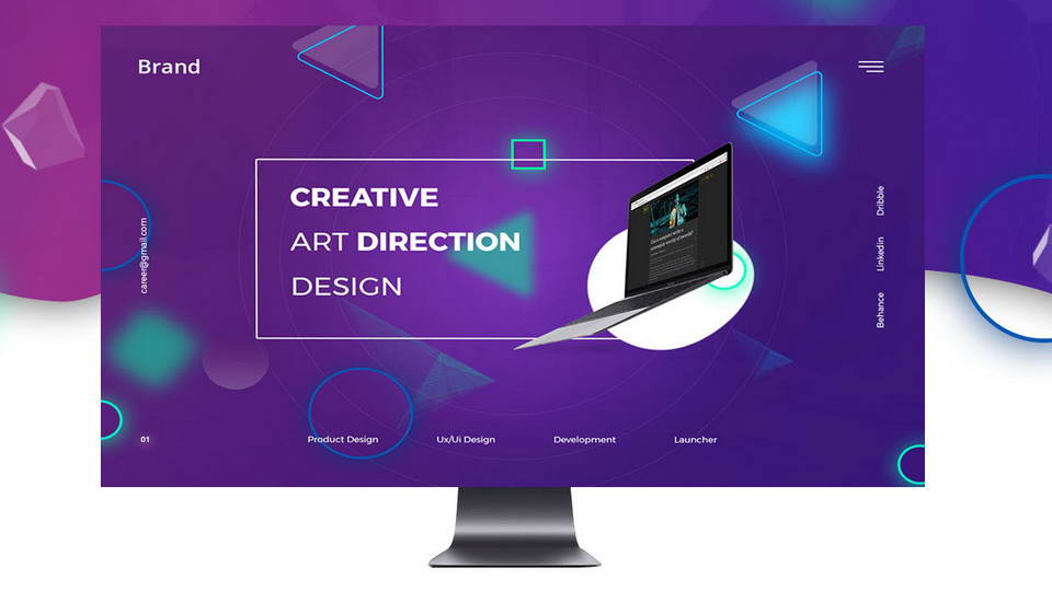 free creative web template