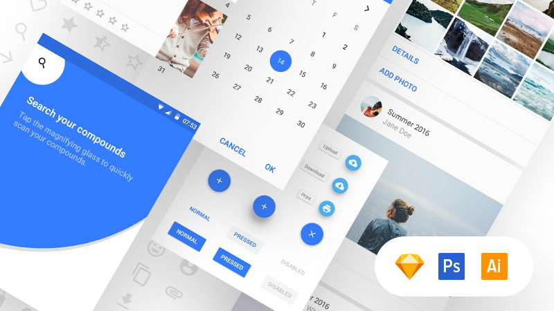 free material ui kit download