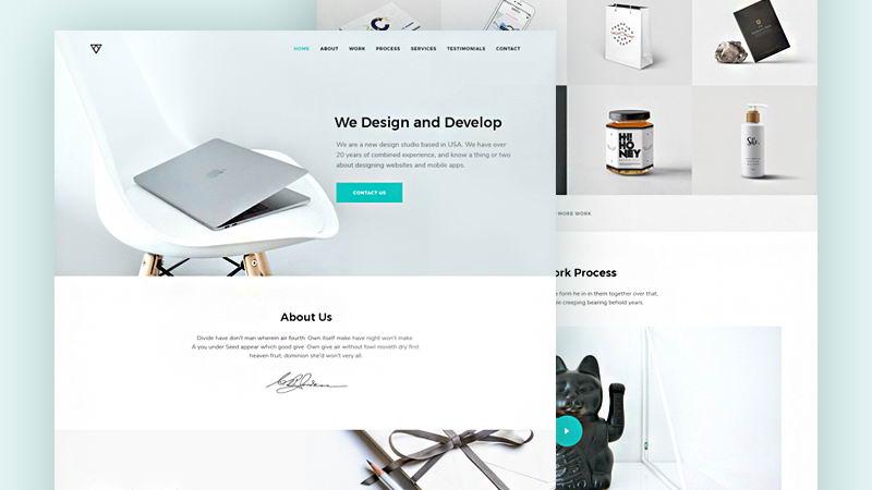 free minimalist portfolio