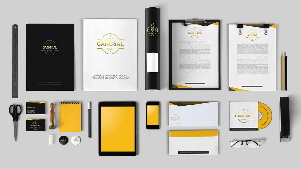 free stationary mockup download