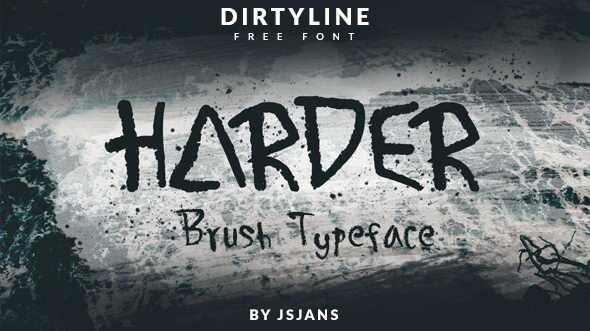 harder brush font download