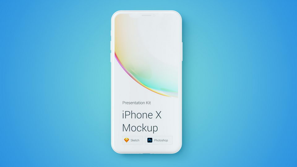iphone x mockup colored