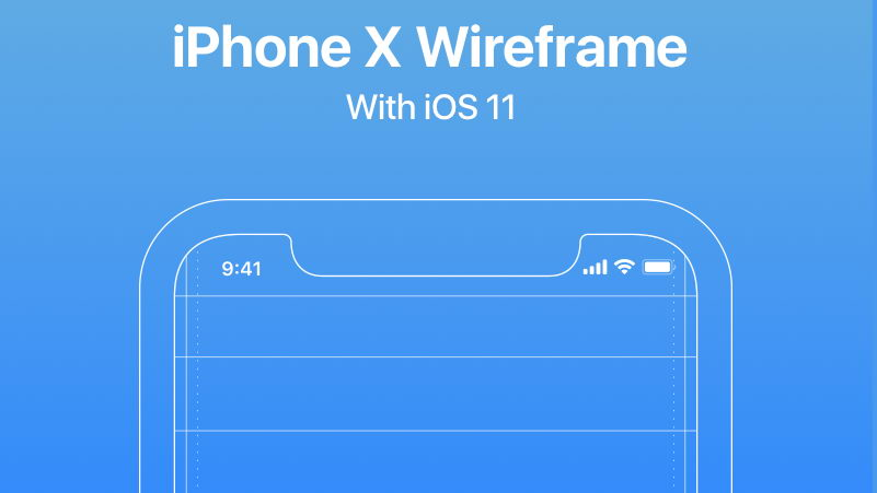iphone x free wireframe
