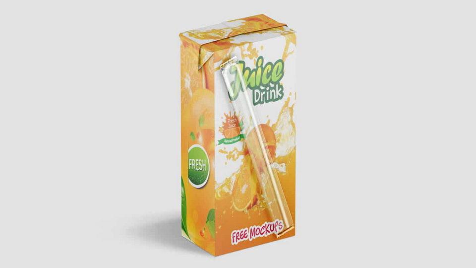 juice box free mockup