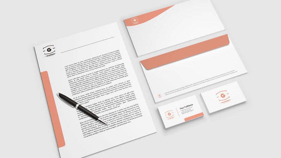 letterhead free mockup
