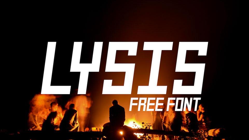 lysis free font