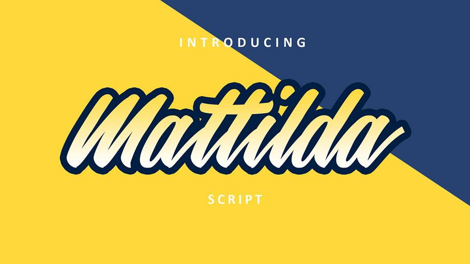 mattilda free font
