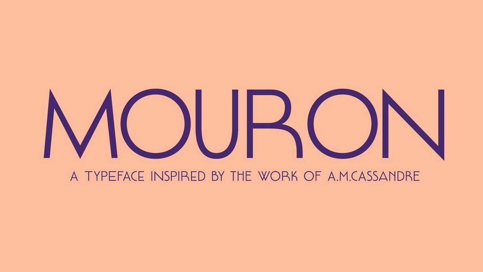 mouron free font