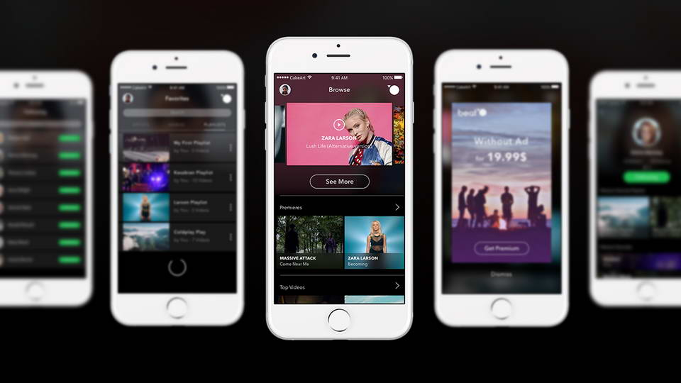 music app ui kit free download