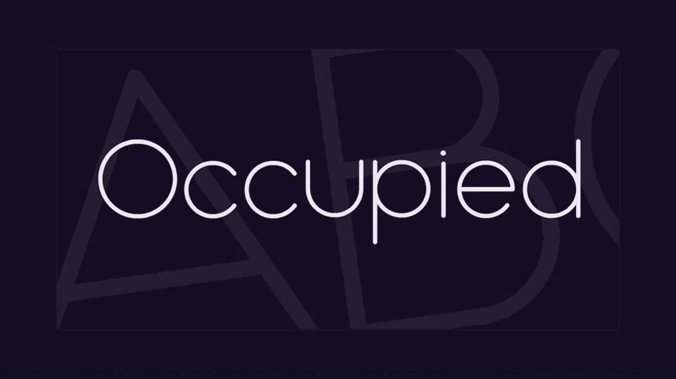 occupied free font download
