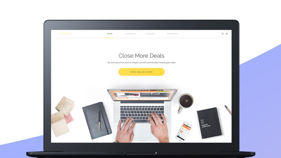online store free web template