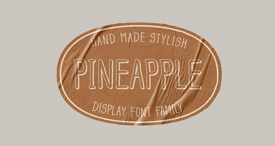 pineapple monoline free