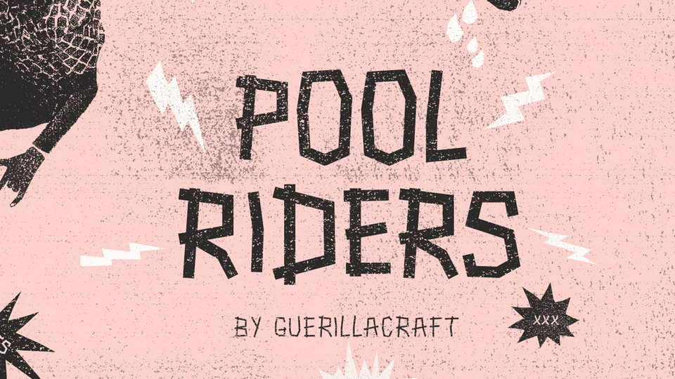 pool riders free punk font