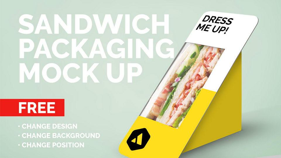 sandwich mockup free
