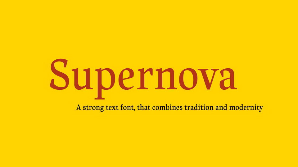 supernova free font