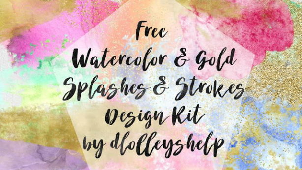 watercolor gold bushps