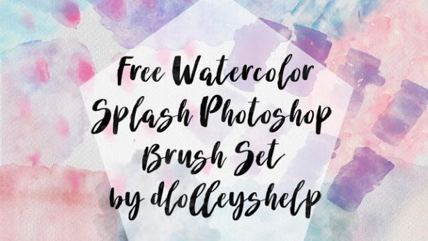 watercolor splash free brush
