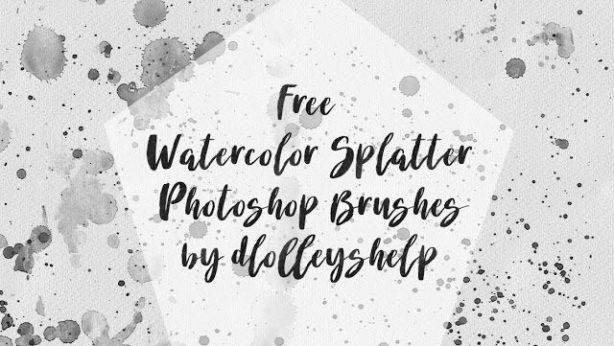 watercolor splatter brushes download