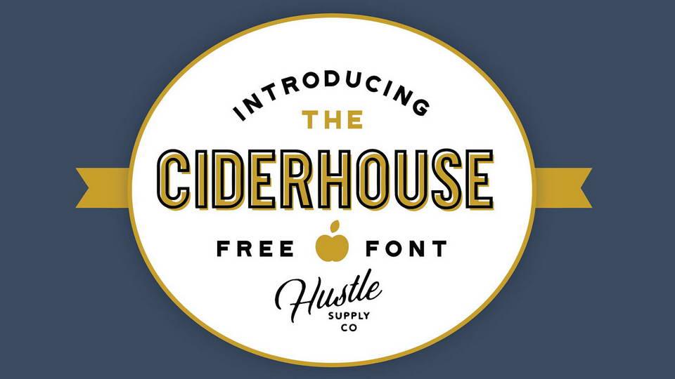 cider house free font