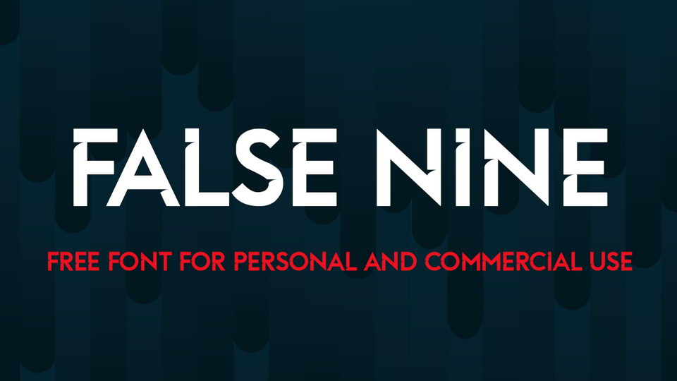 false nine free font