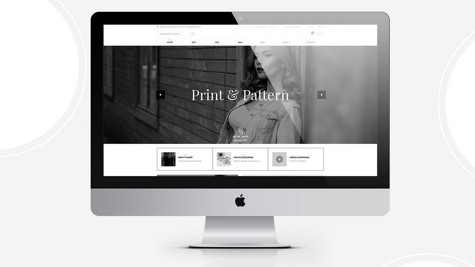fashion shop psd template