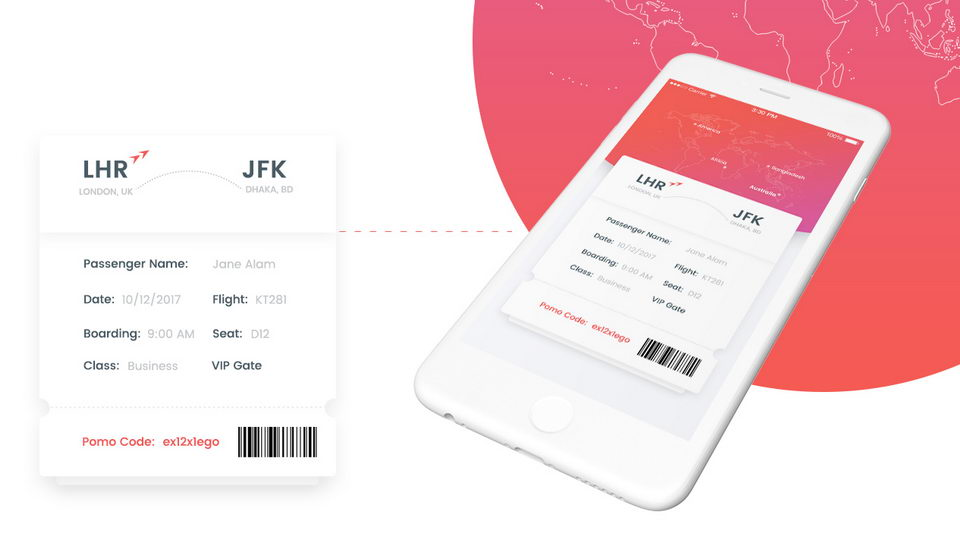 flight booking app ui kit free