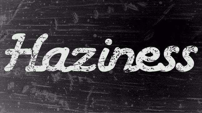 haziness free font