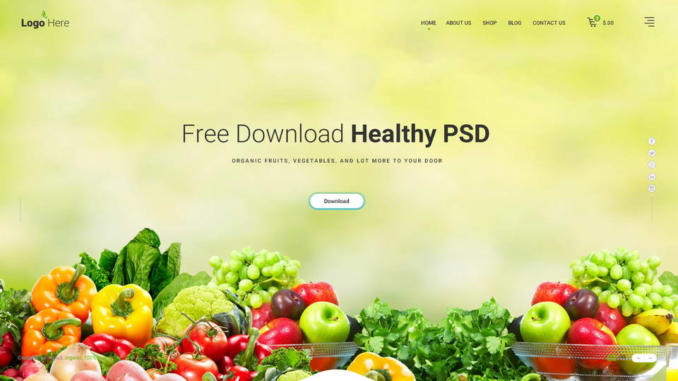 healthy store psd template