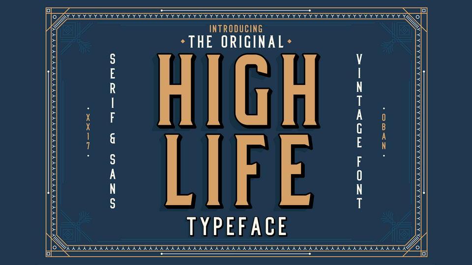 high life free font