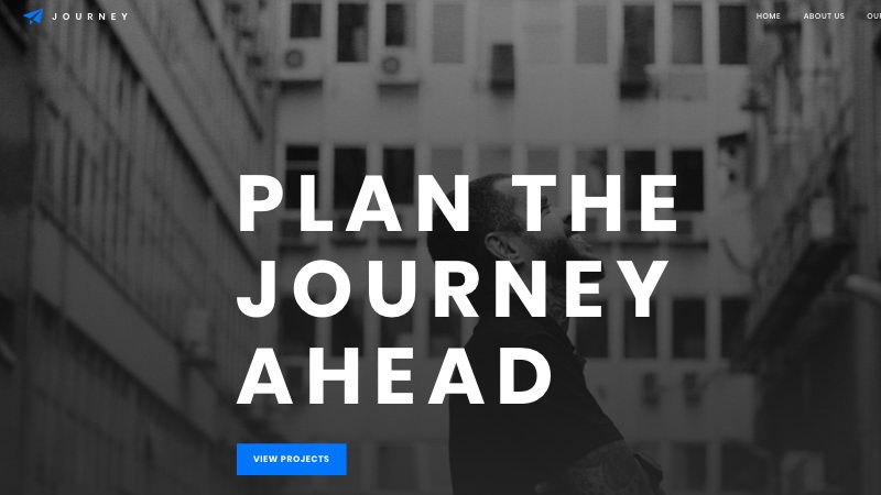 journey web template