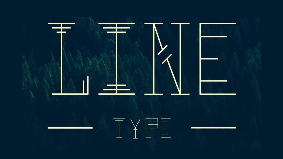 line type font