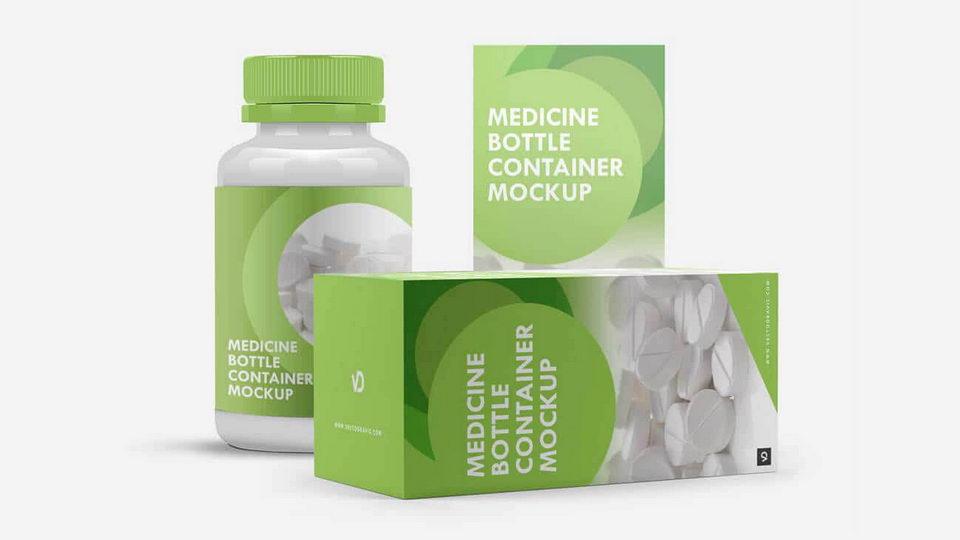 medicine box mockup