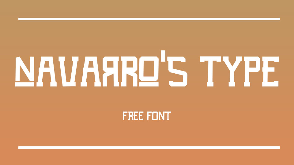 navarros free font